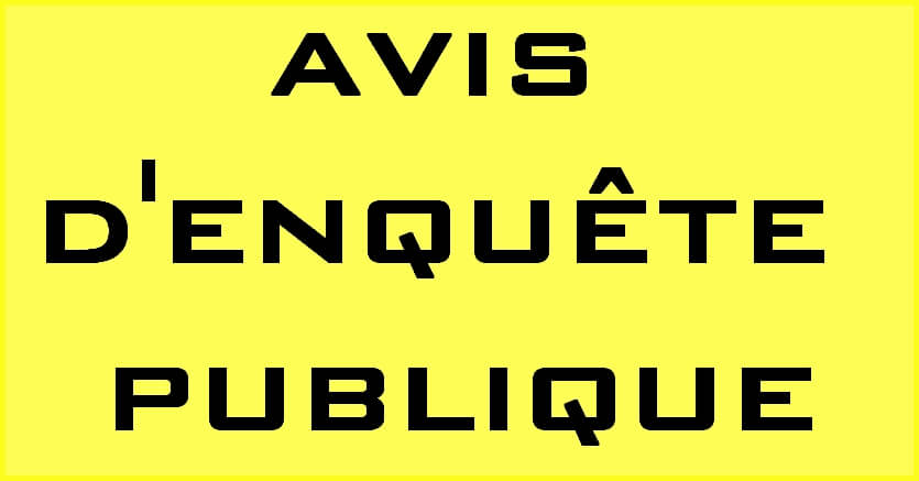 Avis d'enquête publique – Plan Local d'Urbanisme intercommunal