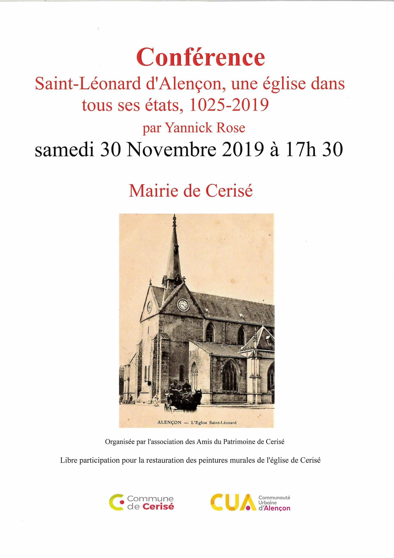 Conférence Saint-Léonard d'Alençon, une église dans tous ses états, 1025-2019