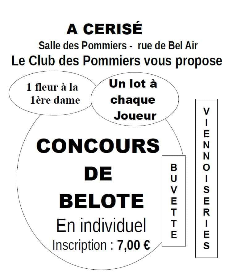 Concours de Belote du Club des pommiers 2020