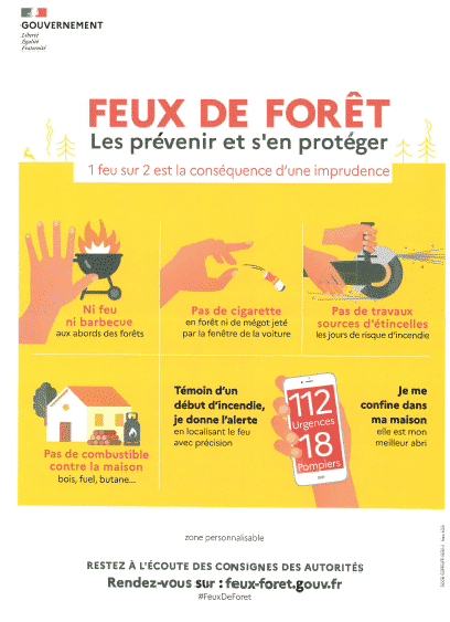 La prévention  des feux de forêt