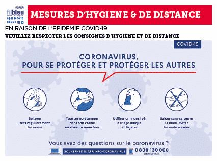 CORONAVIRUS : mesures d'hygiène et de distance aux abords des écoles et des arrêts de bus