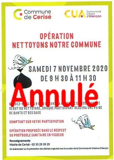 Opération «Nettoyons notre commune»