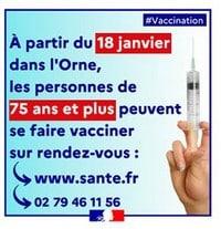 Lancement de la campagne de vaccination dans l'ORNE