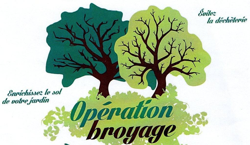 Opération broyage à Cerisé Samedi 24 avril 2021