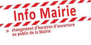 Ouverture de la mairie au public : nouveaux horaires à partir du 1er mai 2021