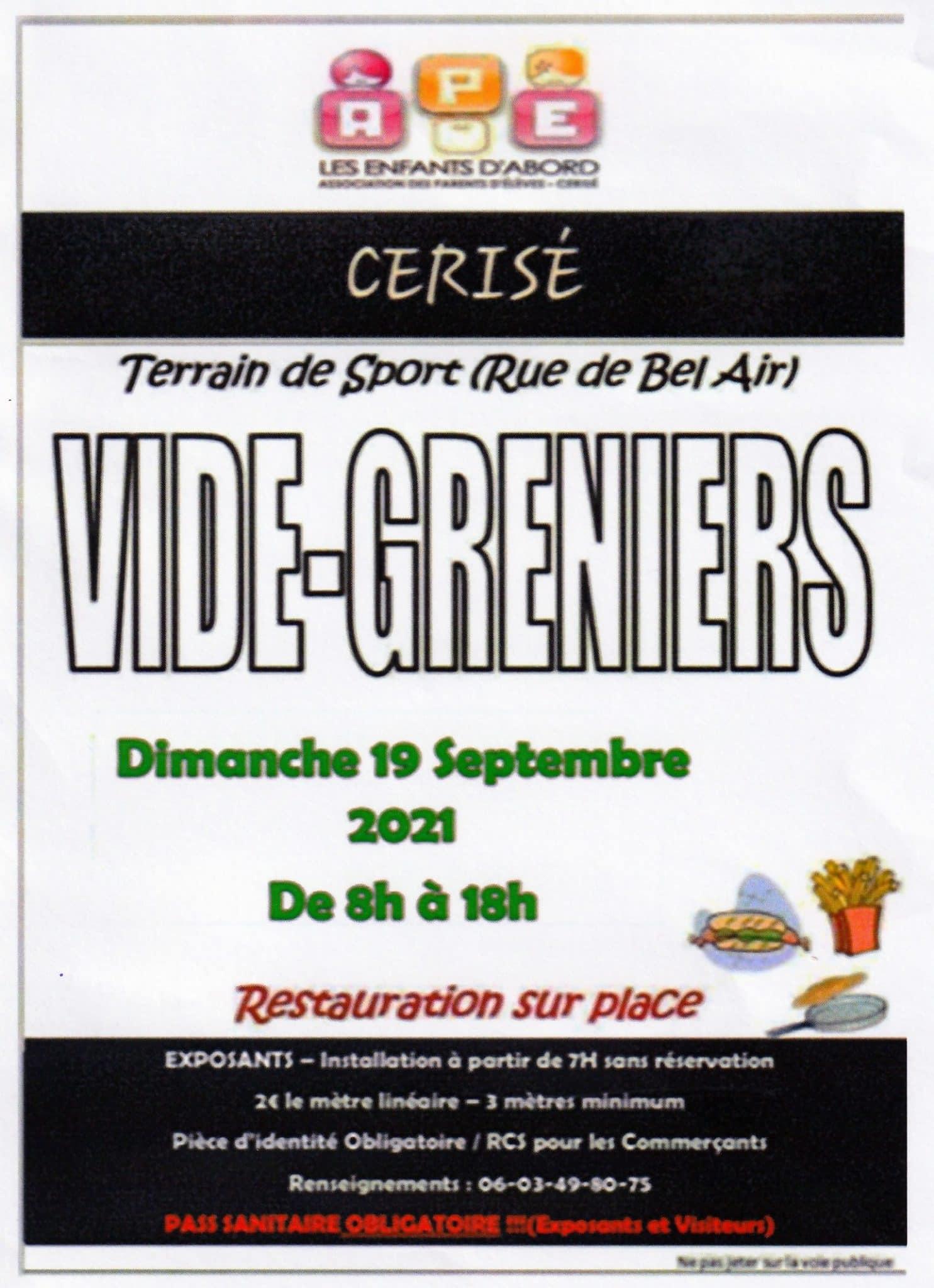 Vide-Greniers organisé par l'APE-dimanche 19 septembre 2021 de 8h à 18h